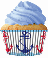 cupcake paper wrappers 9088 Anchors Away
