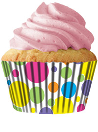 cupcake paper wrappers 9111 Rainbow Swirl