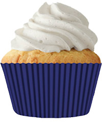 cupcake paper wrappers 9122 Navy Blue