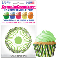 8801 Green Swirl cupcake baking cups