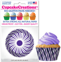8808 Purple Swirl cupcake baking cups