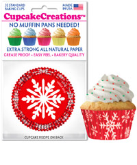 cupcake paper wrappers 8826 Snowflake