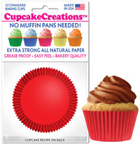 cupcake baking cups 8854 Red