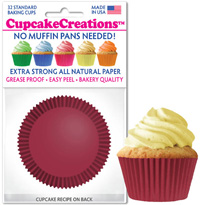 greaseproof baking cups 8868 Burgundy