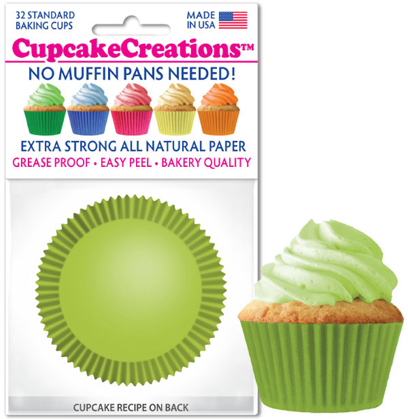 Superb Cupcake Paper Wrappers 8869 Lime Green