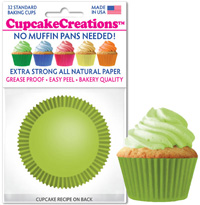cupcake paper wrappers 8869 Lime Green
