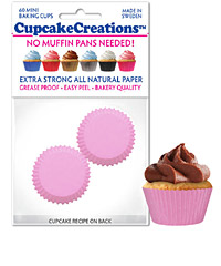 cupcake paper wrappers 8873 mini pink