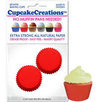 cupcake paper wrappers 8874 Red Mini