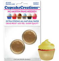 cupcake colored 8876 Gold Mini