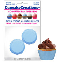 cupcake paper wrappers 8877 mini light blue