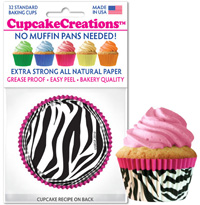 cupcake wrappers 8890 Pink Zebra