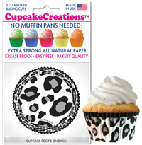 cupcake paper wrappers 8891 White Leopard