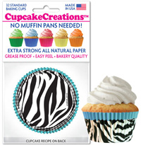cupcake papers 8958 Blue Zebra
