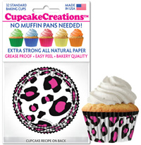 cupcake papers 8964 Pink Leopard