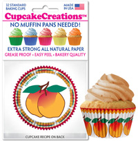 cupcake wrappers 8973 Harvest Peach