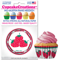 cupcake papers 8976 Harvest Strawberry