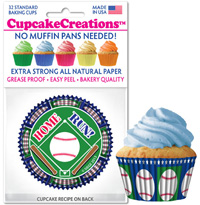 cupcake paper wrappers 8979 Baseball Home Run
