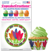 cupcake paper wrappers 8984 Tulips