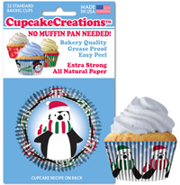 cupcake papers 8985 Happy Penguins