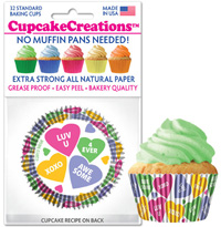 cupcake wrappers 8989 Candy Hearts