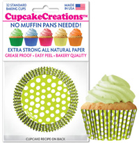 cupcake cups 8992 Key Lime Dots