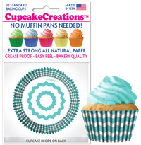 cupcake cups 8994 Turquoise Chevron