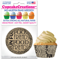 cupcake paper wrappers 9050 Fun Food Friends