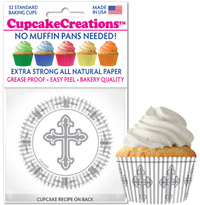 9073 Silver Cross cupcake baking cups