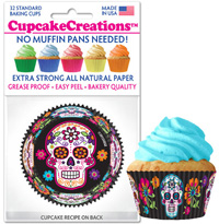 9079 Sugar Skull cupcake baking cups