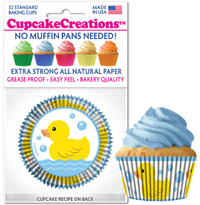 cupcake paper wrappers 9087 Rubber Ducky