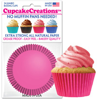 cupcake paper wrappers 9103 Solid Pink