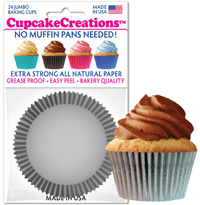 cupcake paper wrappers 9109 Solid Silver