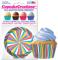 cupcake paper wrappers 9110 Rainbow Swirl