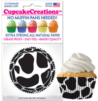 cupcake paper wrappers 9121 Moo/Cow Print