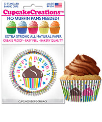 cupcake paper wrappers 9132 Happy Birthday