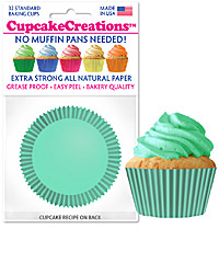 cupcake paper wrappers 9147 Solid Teal