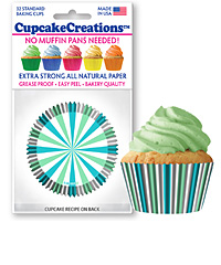 cupcake paper wrappers 9182 Mint and Turquoise