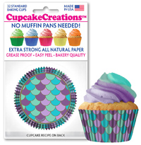 cupcake paper wrappers Mermaid Scales baking cups