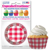 Red and White Plaid baking cups