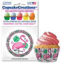 Pink Flamingos baking cups