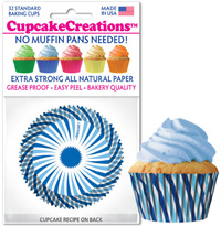 cupcake paper wrappers 8802 Blue Swirl