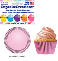 Light Pink cupcake paper wrappers
