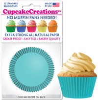 greaseproof baking cups 8860 Light Turquoise