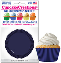 Navy Blue cupcake paper wrappers