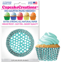 greaseproof baking cups 8991 Blue Caribbean Dots