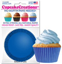 cupcake paper wrappers 9107 Solid Blue