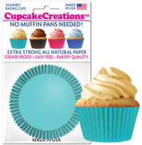 cupcake paper wrappers 9104 Solid Turquoise