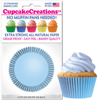 greaseproof baking cups 8863 Light Blue